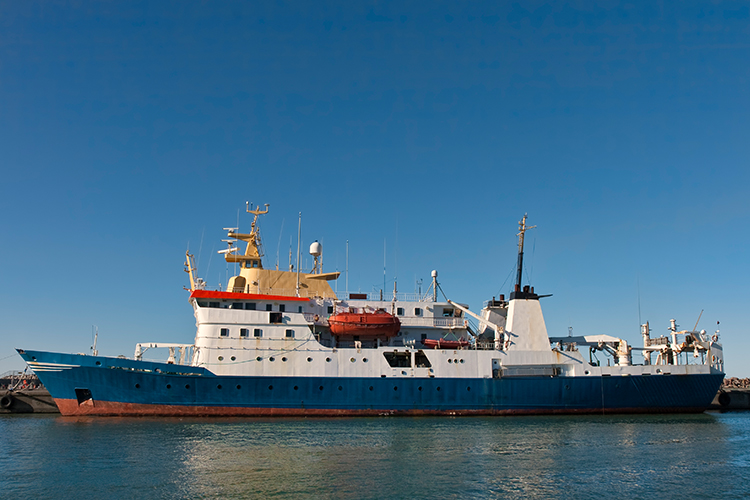Research vessel.