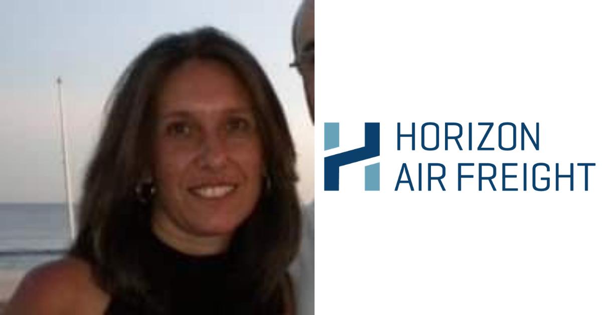 Headshot of Bridget Aglio with the Horizon logo.