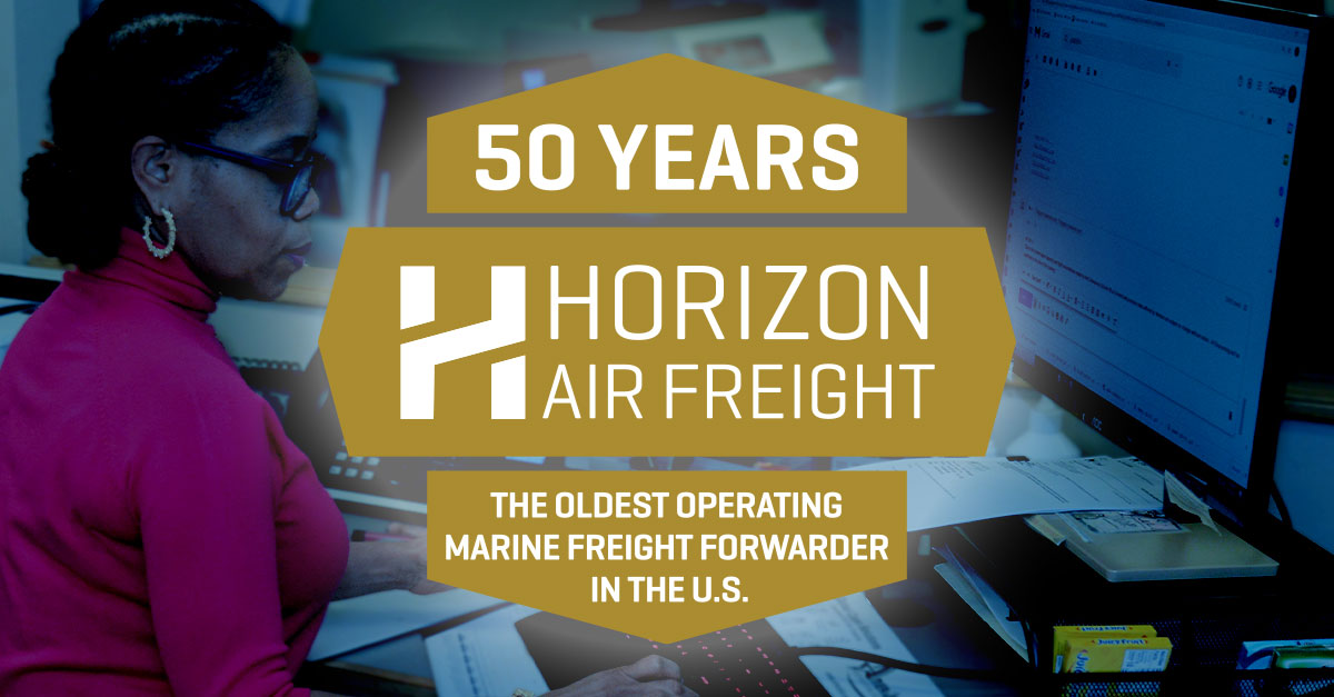 HoriHorizon Air Freight 50 Year Anniversaryzon Air Freight 50 Year Anniversary